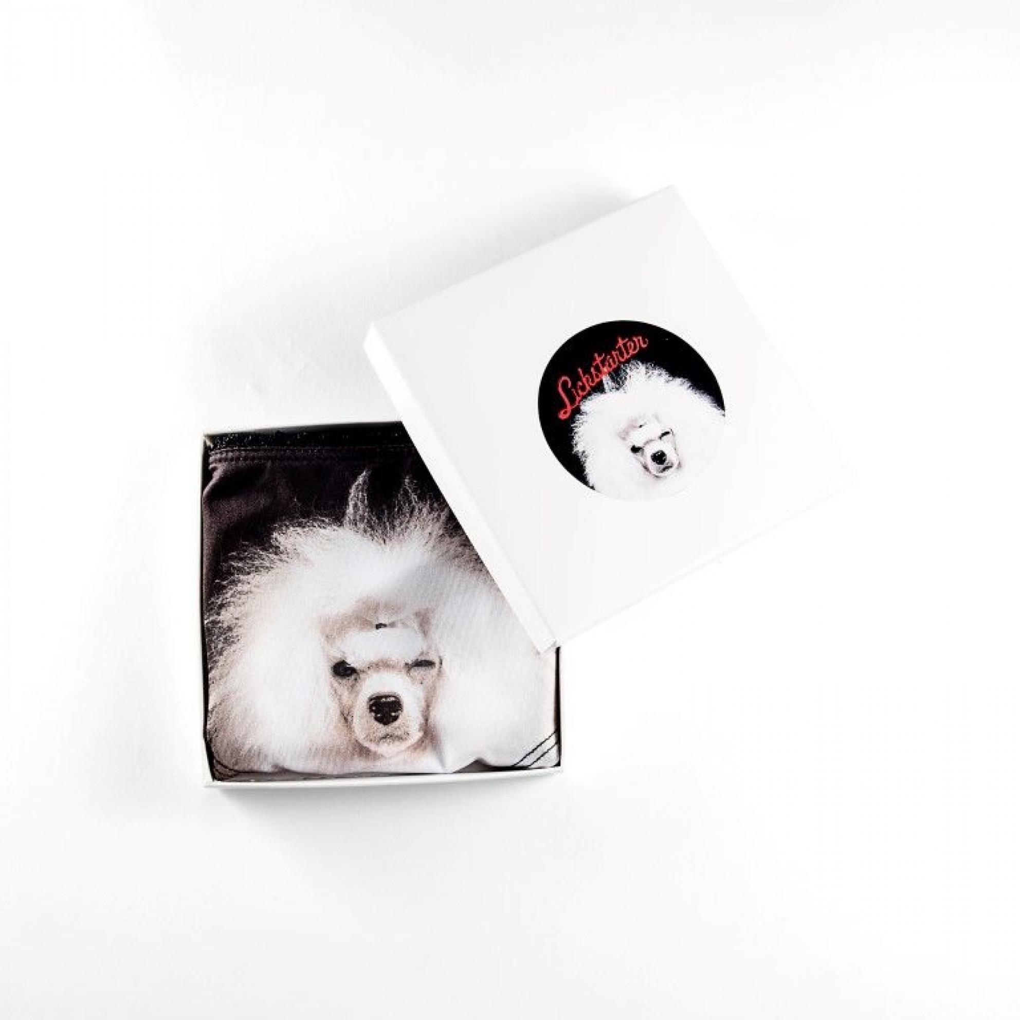 Undies White Poodle   Black