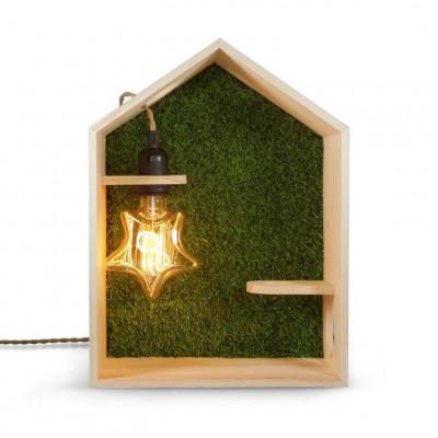 Shelf + Lamp Green House