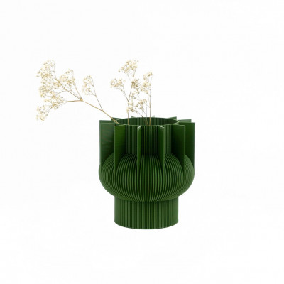 Vase 3D   Grün