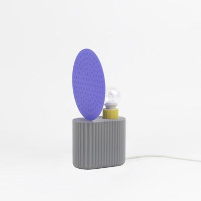 Lampe 3D   Blau / Grau