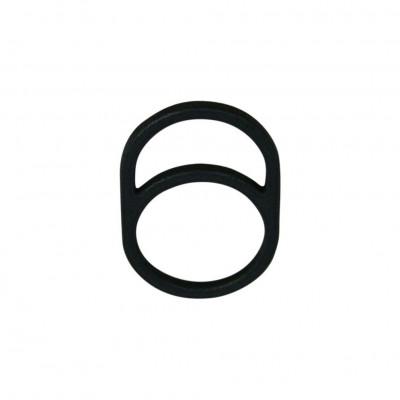 Gerahmter Ring O | Schwarz