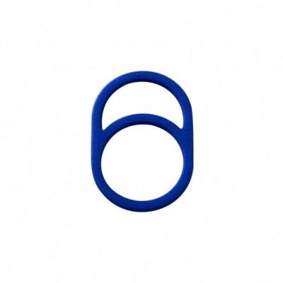 Gerahmter Ring O | Blau