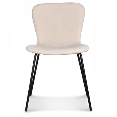 Stuhl Adele | Schwarze Beine & Natürlicher Samt