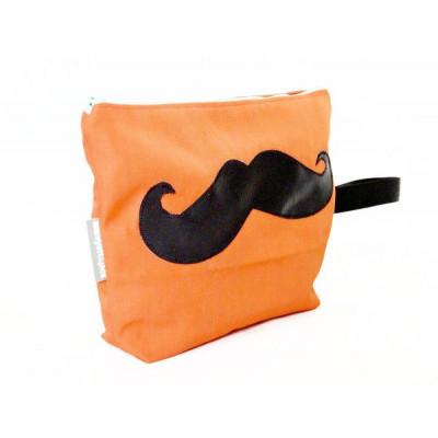 Moustache general grooming kit bag   Orange