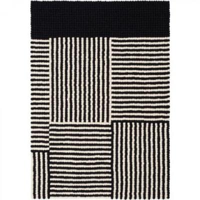 Felt Ball Rug Lino | Black & White