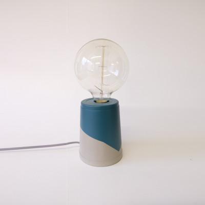 Vase Lamp   Concrete/Petrol