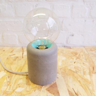 Vase Lamp   Concrete/Turquoise