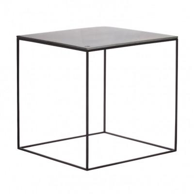 MoonSquare Beistelltisch   Schwarzes Stahlgestell / graue Tischplatte