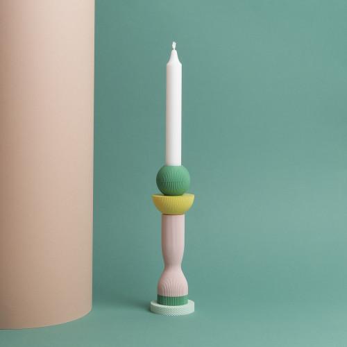 Kerzenständer 3D   Rosig