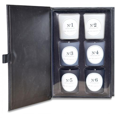 Duftkerze Blind Test Schwarz   6er-Set