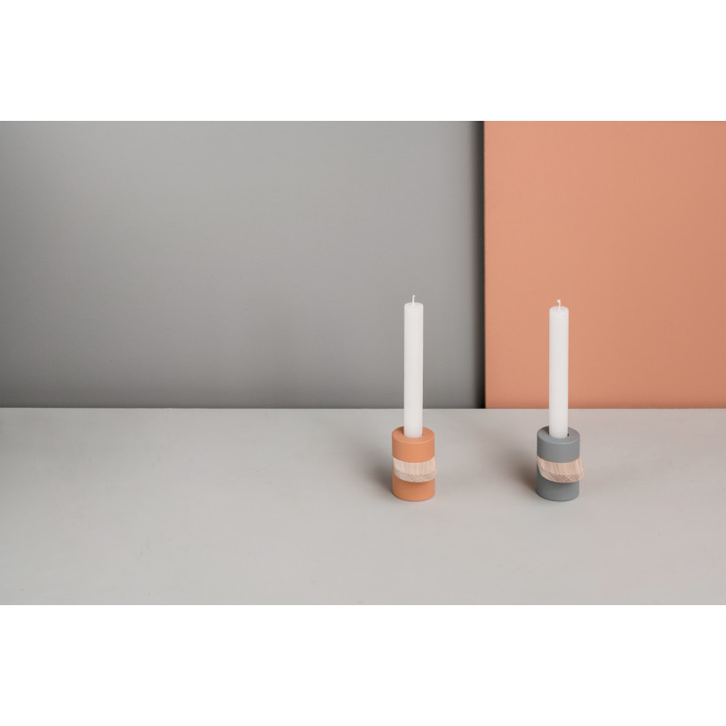 Kerzenständer Heavy Cream | Koralle