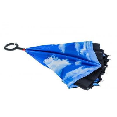 Regenschirm Doppellage invertiert | Schwarz & Blau