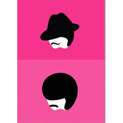"Set of 2 Mac Book Stickers ""El Caballero"" & ""The Swinger"""
