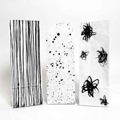 Set of 3 Mini Paper Bags   Dust