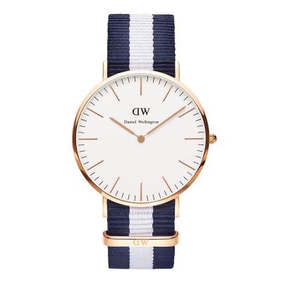 Classic Glasgow Herrenuhr | Blau / Weiß