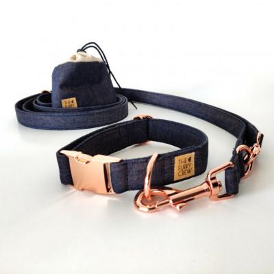Verstellbare Hundeleine   Gefärbte Jeans