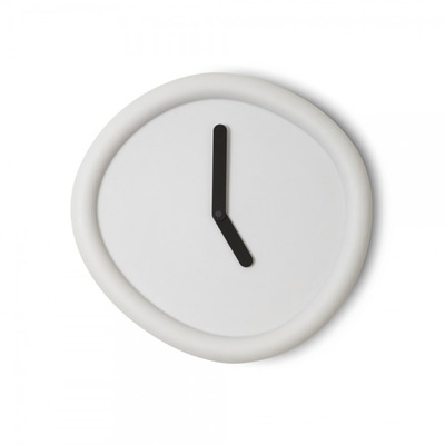 Runde Uhr   Hellgrau