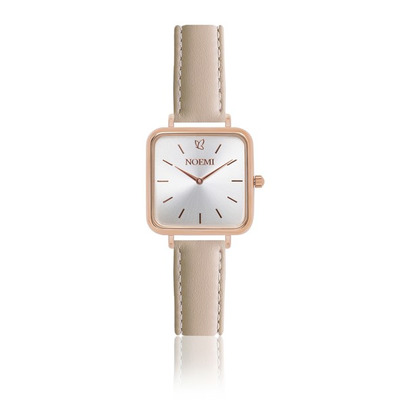 Uhr Frau Noemi I Rose Gold-Creme-Silber