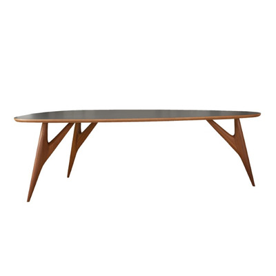 Table Ted One | Grey and Mahogany