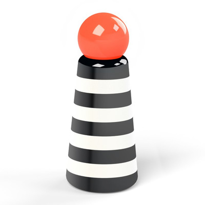 Wiederverwendbare Trinkflasche Skittle | 50 cl | Streifen & Korallenfarbener Deckel