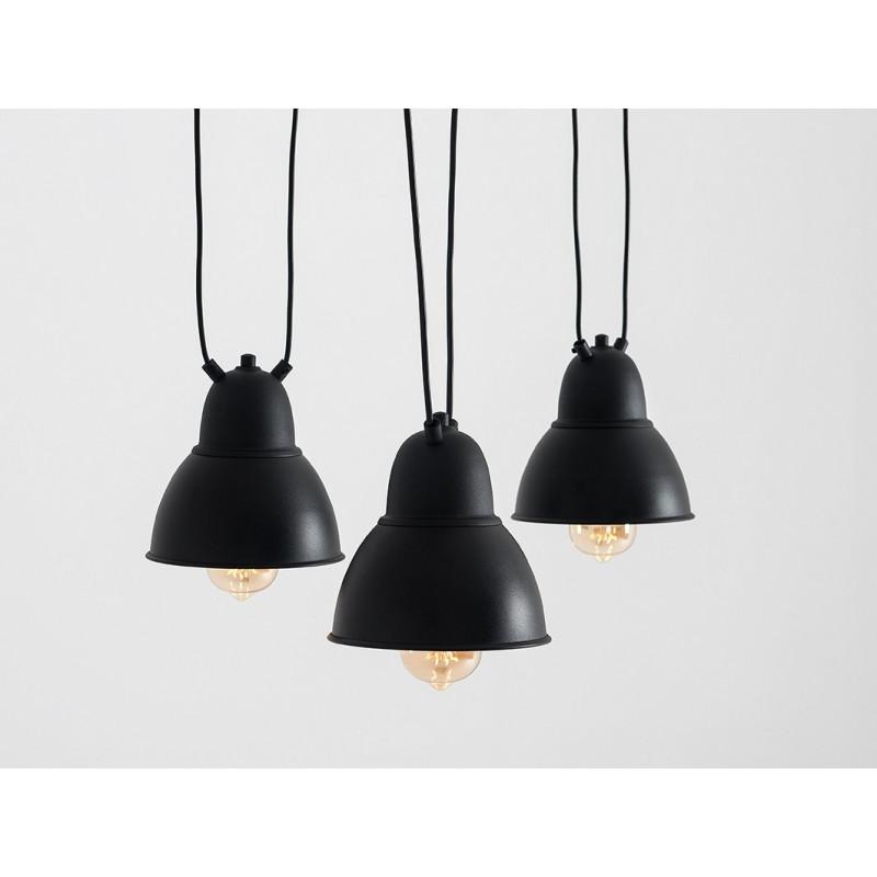 Pendant Lamp Adjustable Coben Hangman Fix 3   Black