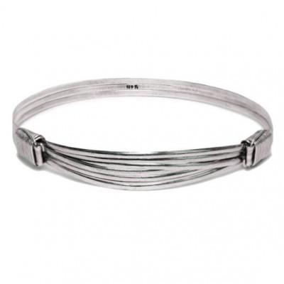 Tembo Elephant Hair Bracelet | Silver
