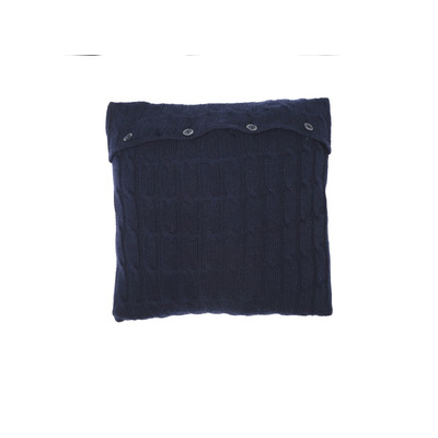 Geflochtener Kissenbezug | Marineblau