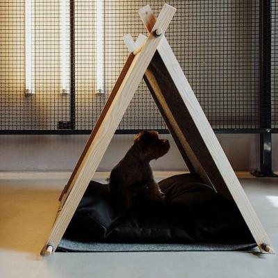 Holzhäuschen für Katzen/Hunde-Legowisko