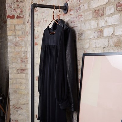 Wall-Mounted Clothes Rack Holly 30x145 cm I Black
