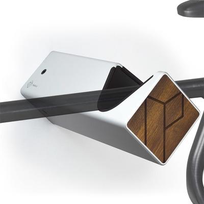 D-Rack Fahrrad-Wandhalterung M | Silber - Kebony - Schwarz