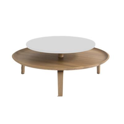 Coffee Table | Oak Wood/White
