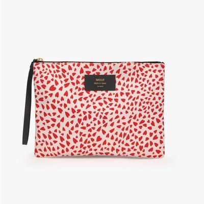 Pouch Bag XL | White Hearts