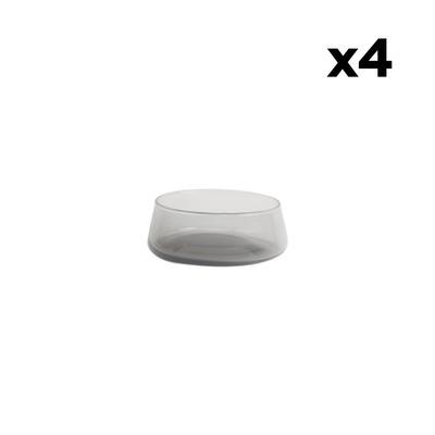 Set of 4 Bowls Host | Smoke Grey