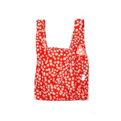 Wiederverwendbare Tasche Daisy   Rot und Weiß