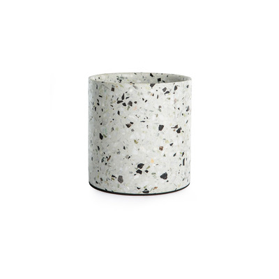 Terrazzo-Topf Mittel | Weiß