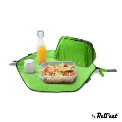 Wiederverwendbarer Lunchsack Eat'n'Out Mini Square | Grün