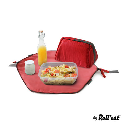 Wiederverwendbarer Lunchsack Eat'n'Out Mini Square | Rot