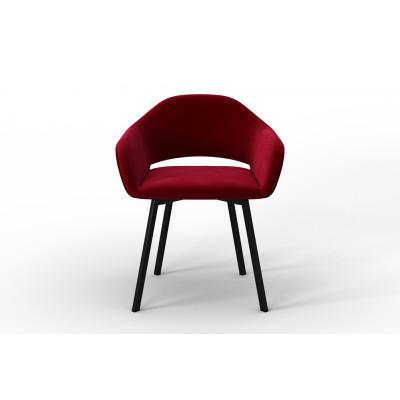 Stuhl Oldenburg | Rot-Samt Touch