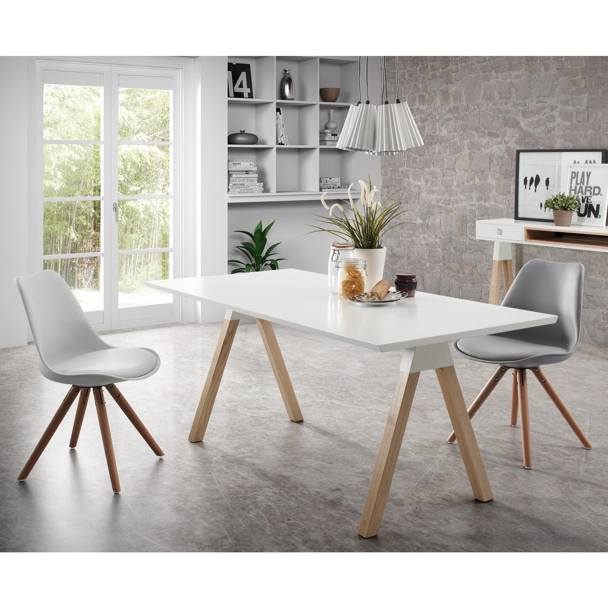 Chair Lars   White & Wood