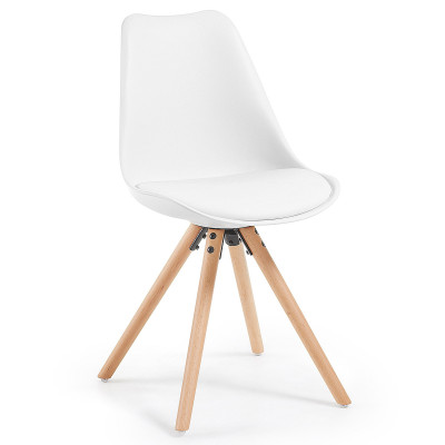Stuhl Lars | Weiß & Holz