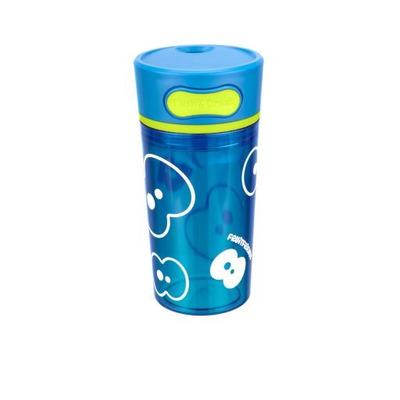 Trinkbecher mit Push-Funktion   Azurblau