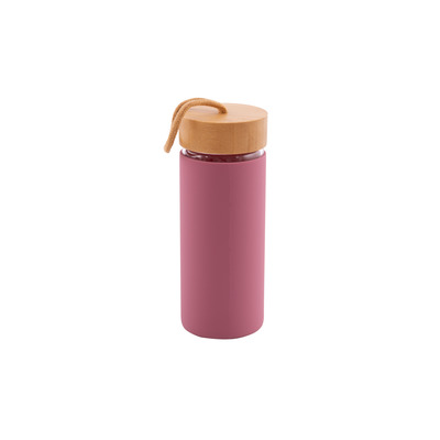 Glasflasche mit Silikonhülle 45 cl l Dusty Rose