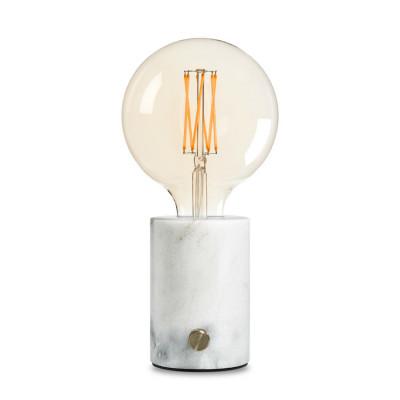 Lampe Orbis | Weisser Marmor-Lichtundurchlässig