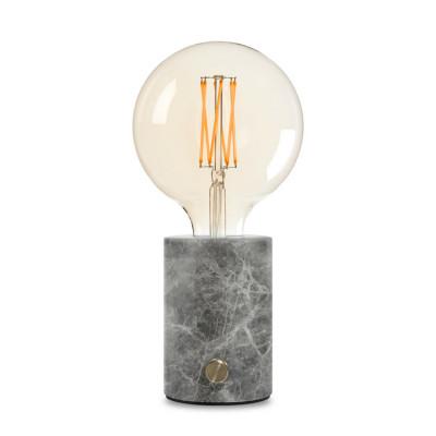 Lampe Orbis | Grauer Marmor-Lichtundurchlässig