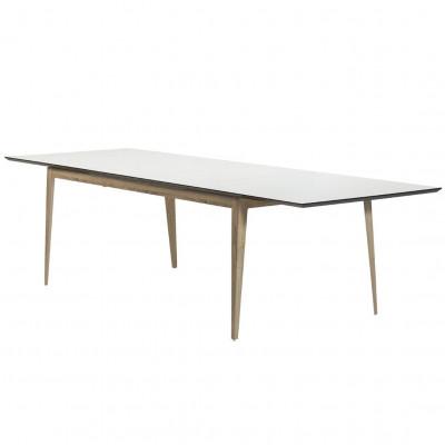 Edge Table Extendable | White & Oak
