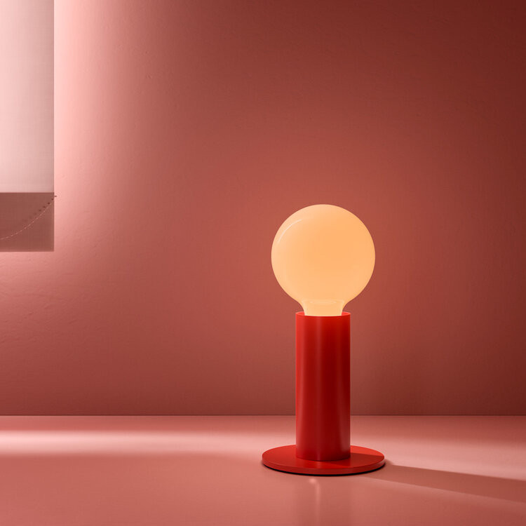Lampe Sol | Mohnrot-Lichtundurchlässig