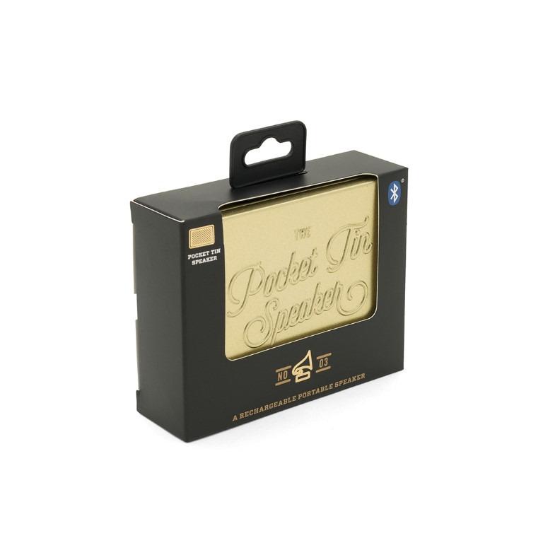 Pocket Tin Lautsprecher Bluetooth Edition | Gold