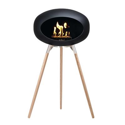 Bio Fireplace Ground Wood Black 79 cm | Soap Treated Oak