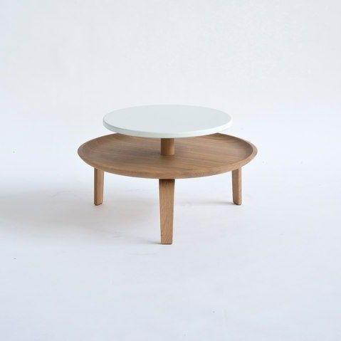 Small Secreto Coffee Table   Natural/White
