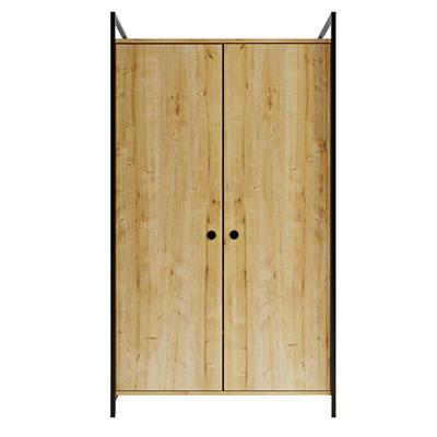 Kleiderschrank mit großer Doppeltür L614 l Eiche